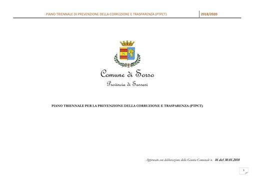 Piano triennale per la prevenzione della corruzione e trasparenza 2018/2020